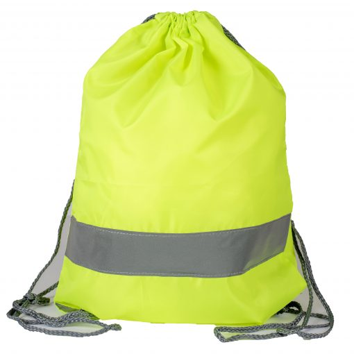 high vis drawstring bag