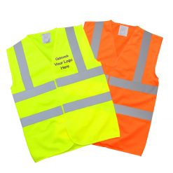 high vis waistcoats with optional custom print