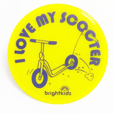 I love my Scooter reflective pin badge