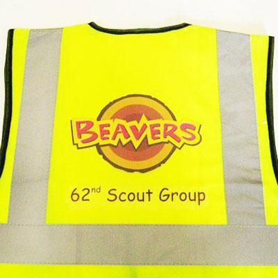 printed high vis waistcoat for child