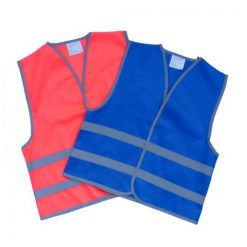 reflective waistcoat for child blue or pink