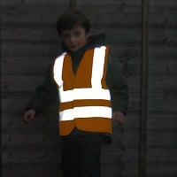 high vis waistcoat for child at night
