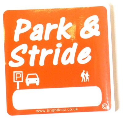 Park and Stride car window sticker