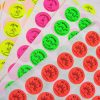 fluoro circle stickers mix