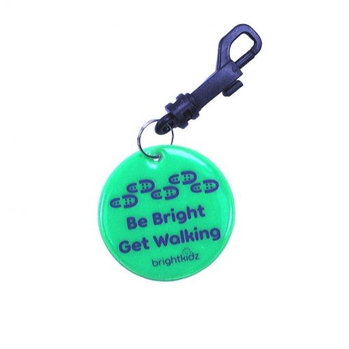 green walk reflective clip on