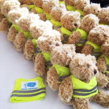 teddies with high vis printed vests