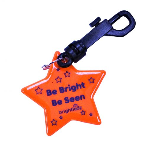 orange star reflective clip on
