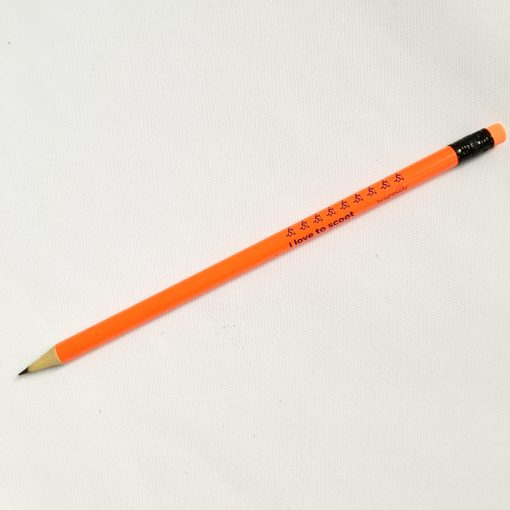orange pencil scoot design
