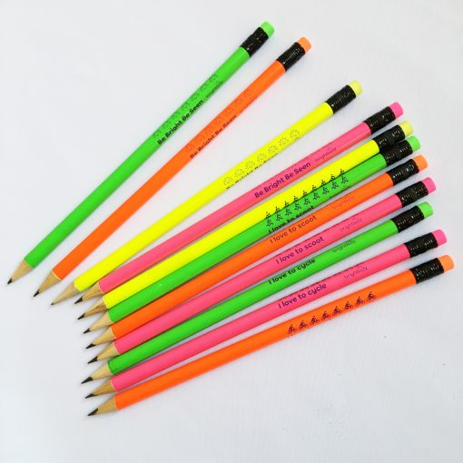 bright pencils mix colours and designs