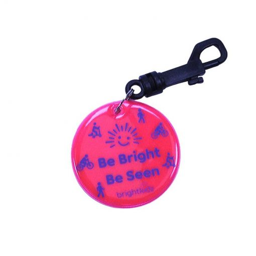 pink be seen reflective clip on