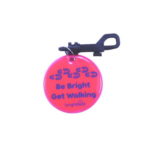 pink walk reflective clip on
