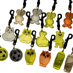 selection of designs rigid reflectors on clips