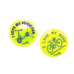 scooter and bike reflective badges