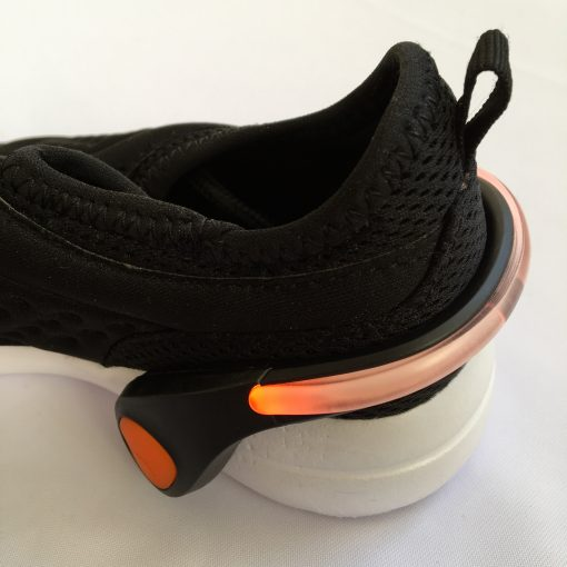 LED shoe clip black, orange light