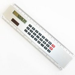 dual powered caluculator ruler