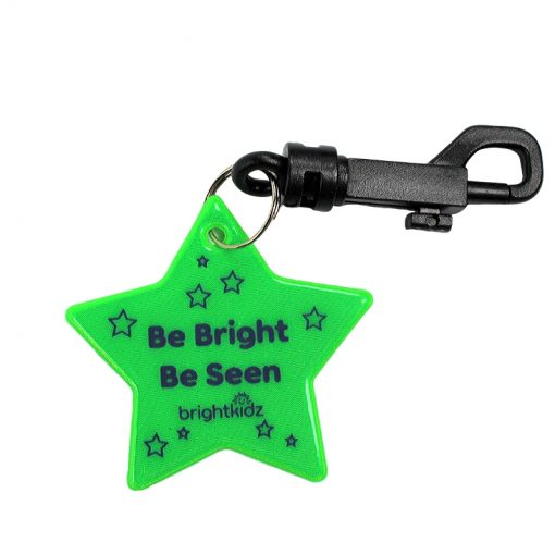 star reflective clip on green