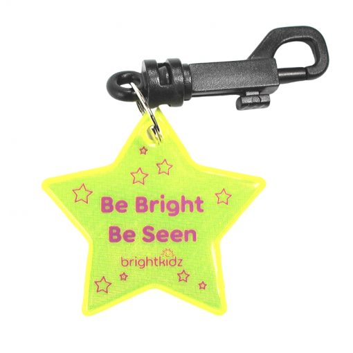 star reflective clip on yellow