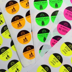 Road safety stickers