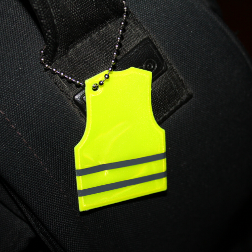 vest shape reflector in use