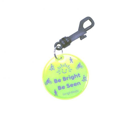 yellow be seen reflective clip on