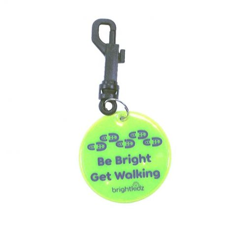 yellow walk reflective clip on