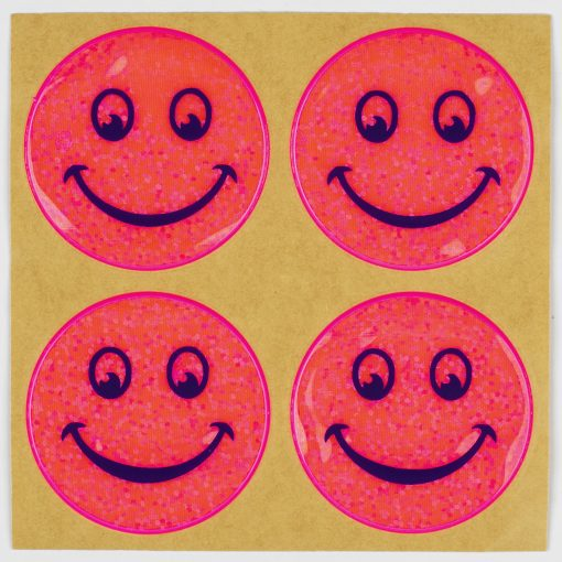pink stickon reflectors smiles