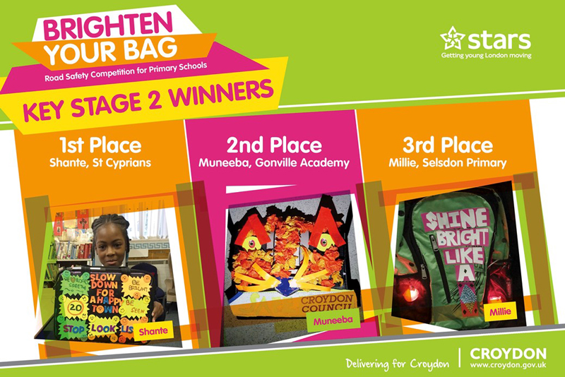 Croydon Brighten Your Bag 2017 winners