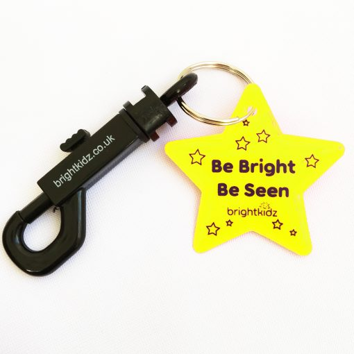 clip on reflective star yellow