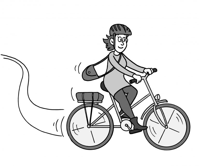Wobbly on a Bike cartoon