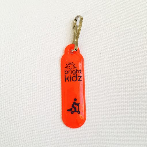 reflective orange zip clip scoot design