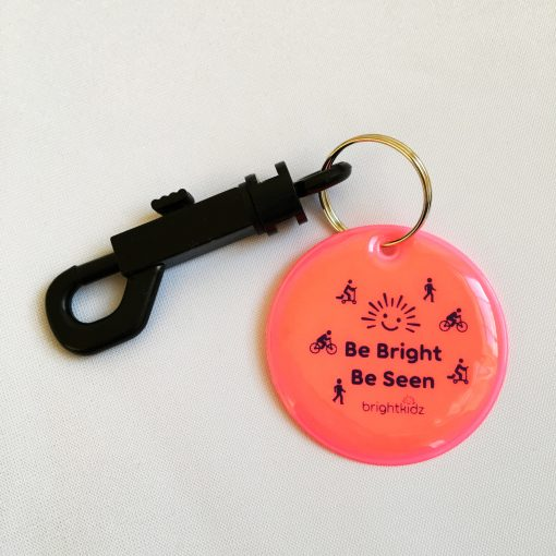 pink reflective clip on with be seen design