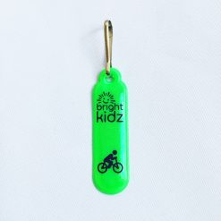 green reflective zip clip cycle