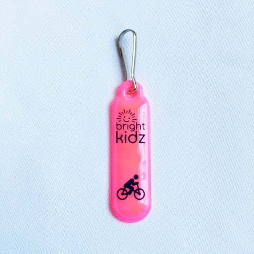 pink reflective zip clip cycle