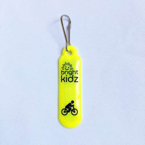 yellow reflective zip clip cycle