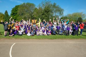 Wicky bear joins walk to school