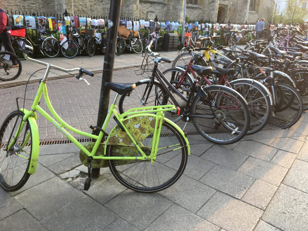 bikes parked in Cambridge