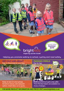 front page of Brightkidz summer flyer