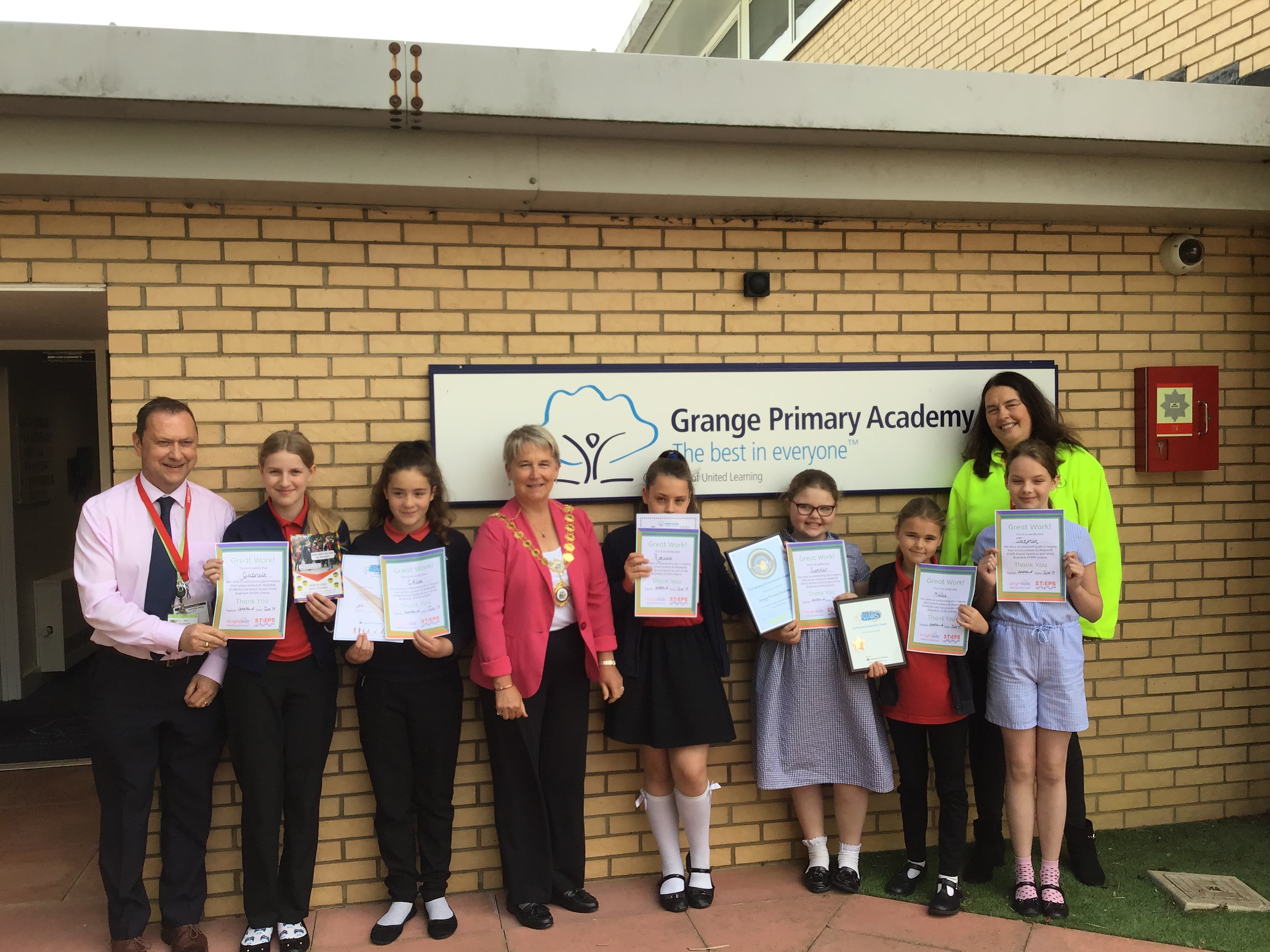 road safety heroes from Grange