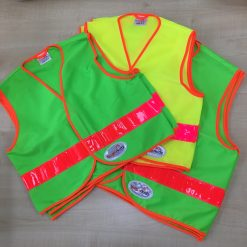 green and yellow Brightkidz waistcoats