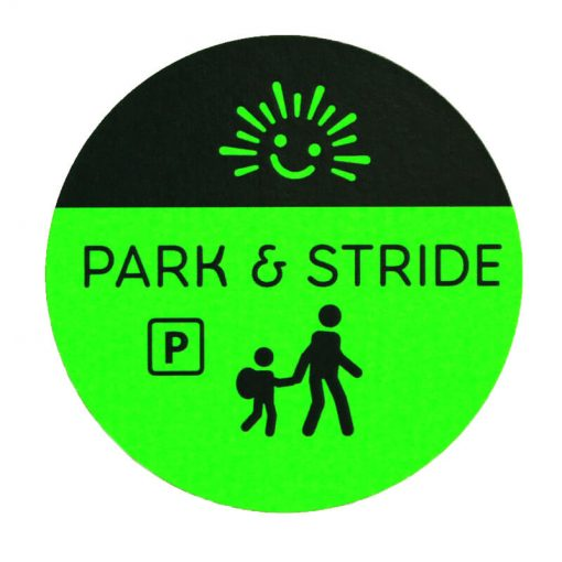 park and stride sticker