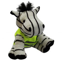 high vis zebra mascot