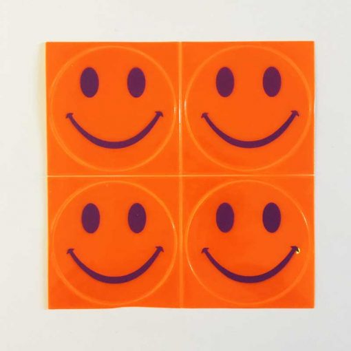 reflective smiles stick ons orange