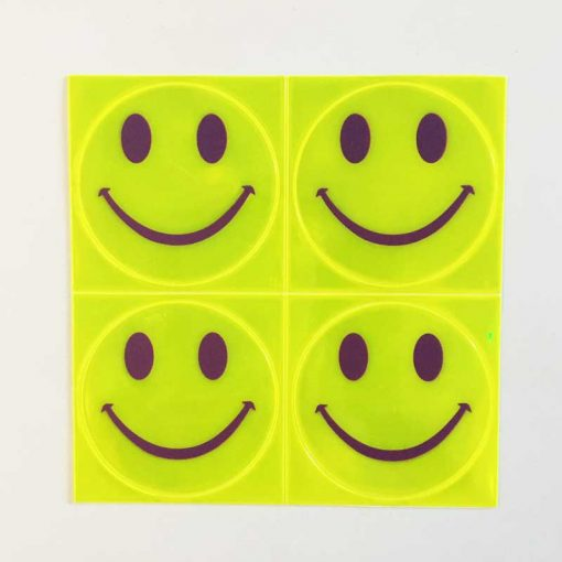 reflective smiles stick ons yellow
