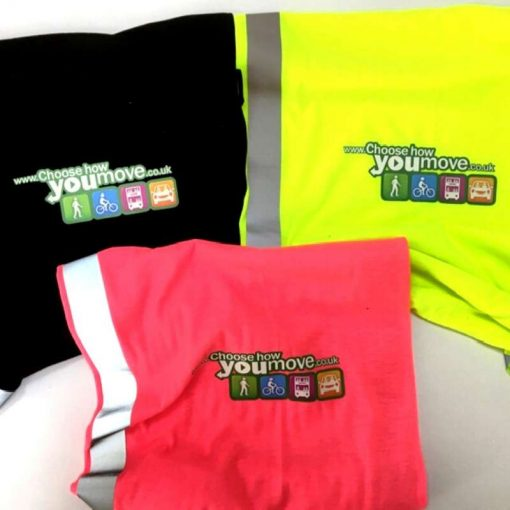 neck warmers with choose how you move custom print