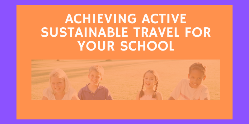achieving active sustainable travel for your school infographic