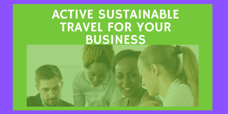 active sustainable travel for your business infographic