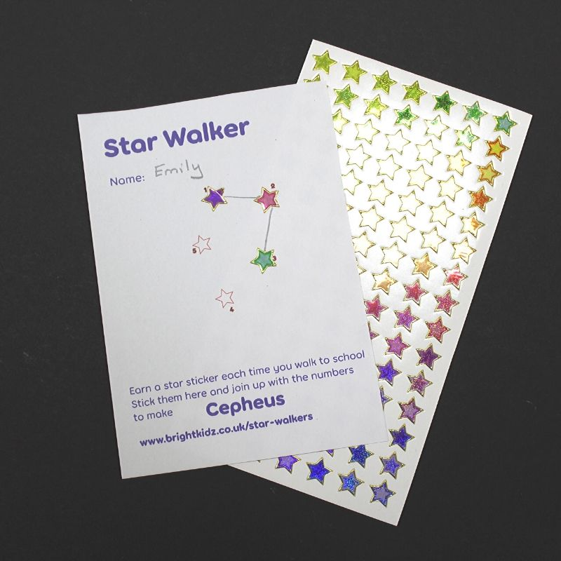 star walker card and stickers