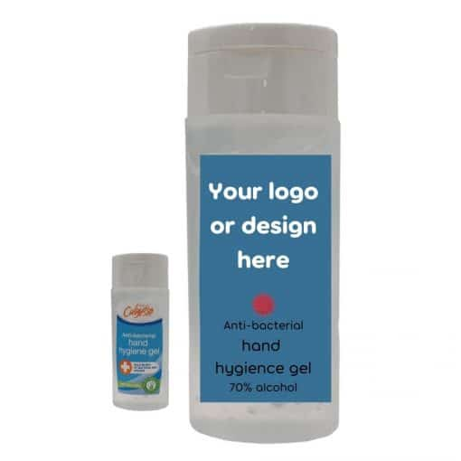 hand sanitiser with custom print