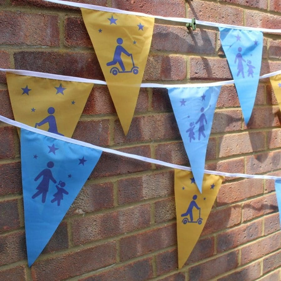 walk and scoot design bunting