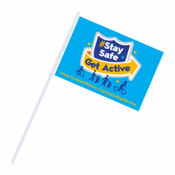 stay safe get active flag